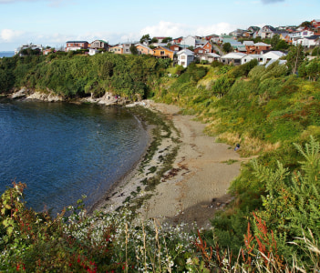Beach by San Antonio Fort, Ancud, Chiloe Islands, Chile