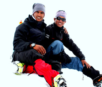 Me and My friend Surender Kumar on Mt.deo Tibba