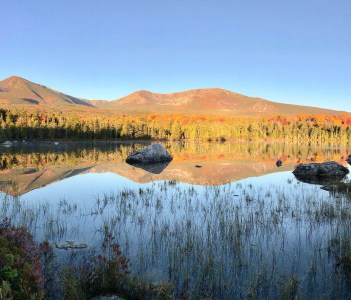 Mount Katahdin Baxter State Park in the Fall in USA