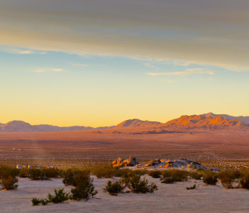 Sunset at Camp Rock near Apple Valley