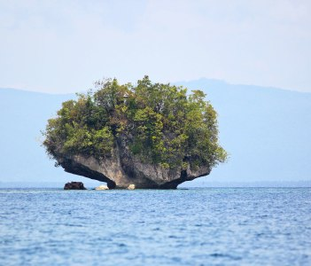 Small rock island, Surigao del Sur, Philippines