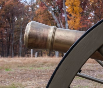 Reproduction Cannon on Ball's Bluff Battlefield in Leesburg, Virginia