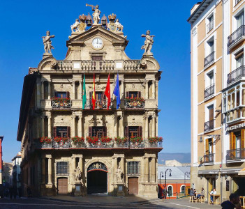 The town hall of Pamplona in Spain