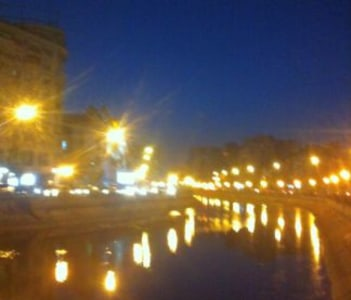 Bucharest by night- Dambovita river