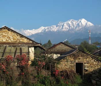 Snow capped Annapurna range view from Ghalegaon