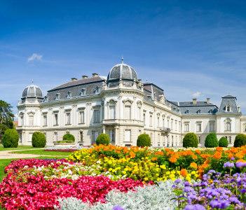 Festetics palace near lake Balaton in Keszthely Hungary