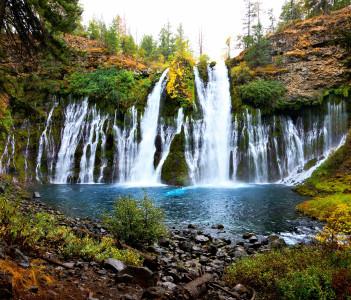 Burney Falls in northern California USA