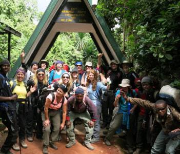 Step to Kili at Marangu gate.