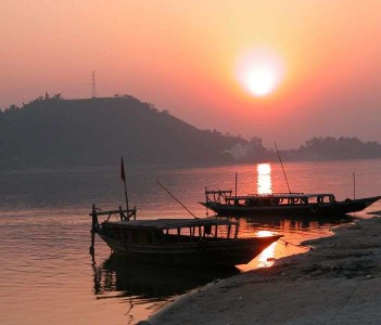 Sunset at Brahmaputra, Guwahati