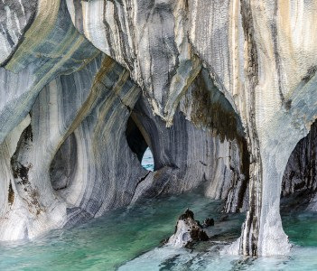 Marble Caves of Lake General Carrera Catedral del Marmol near Puerto Rio Tranquilo