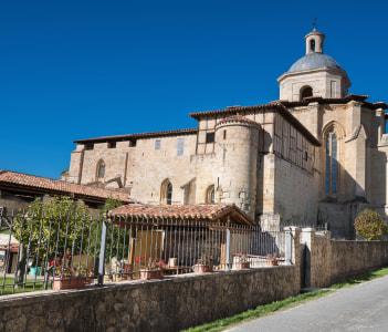 Valpuesta ancient monastery origin of the spanish lenguage. Burgos Spain.