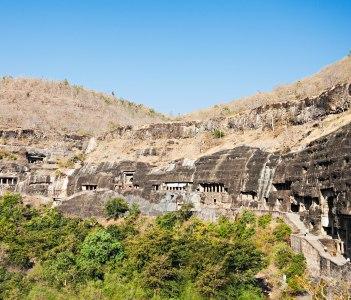 Ajanta caves near Aurangabad Maharashtra state in India