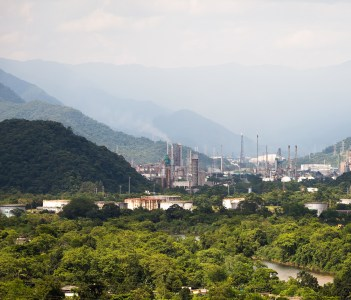 Presidente Bernardes Refinery is the first major refinery that Petrobras built in the foothills of the Serra do Mar in Cubatao Brazil