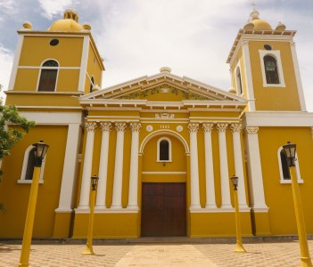 Cathedral outdoors view of Chinandega in Nicaragua