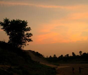 Sunset on the Suvarnarekha