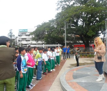 Education tour with elementary students form Surigao City at Guingona Park