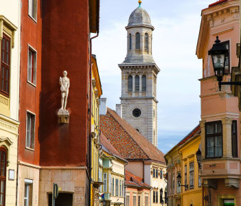 historic architecture in Sopron Hungary Europe