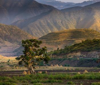 Landscape of Dessie Ethiopia