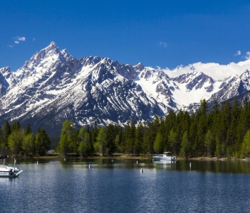 Mt. Moran at the Grand Teton National Park Wyoming.