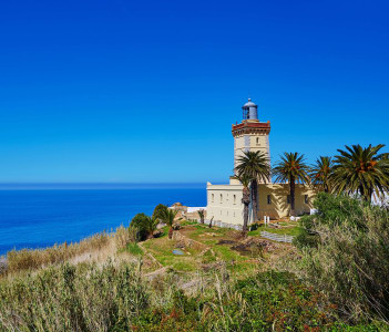 Lighthouse at the cape Spartel in Tangier Morocco