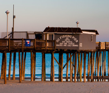 The fishing pier at Ocean City Maryland in USA