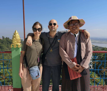 On the top of the Sagaing Hill