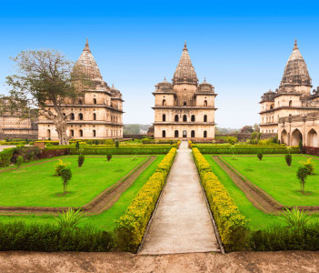 Chhatris or Cenotaphs are dome shaped structure built for a long memory about raja of Orchha city.