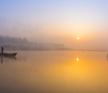 A Fisherman in Satluj river Ludhiana Punjab