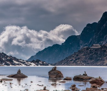 Sacred Gosaikunda lake(4380m.)