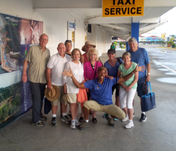 Party of 9  on a City Canal Tour from Colon Cruise Terminal