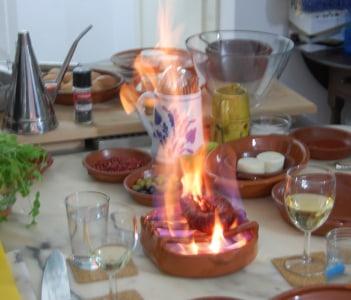 grilled chouriço