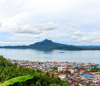 Philippines, Leyte, Tacloban City - View on Tacloban City From Calvary Hill
