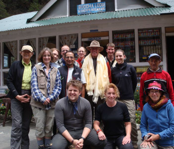 Me with the son of Sir Edmund Hillary and German Tour Group in Everest Region