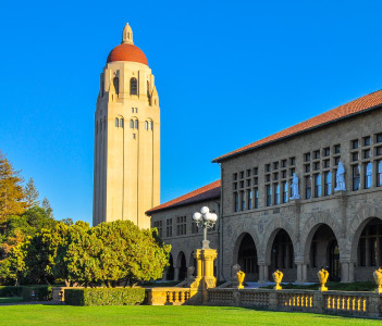 Stanford University Hoover Tower, completed in 1941, Palo Alto, California, USA