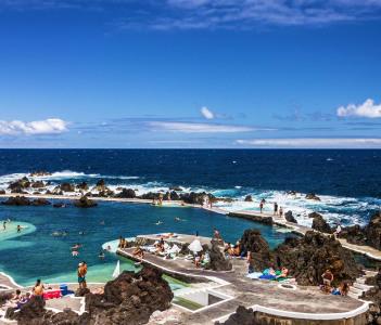 Natural pools in Porto Moniz, Madeira island, Portugal