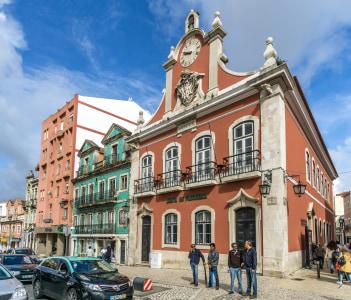 City hall of Caldas de Rainha in Portugal