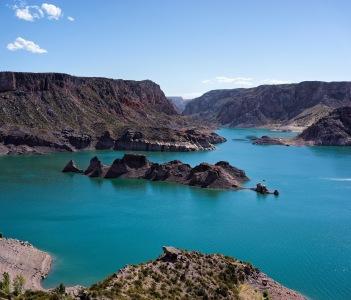 Atuel Lake in Summer San Rafael Mendoza Argentina