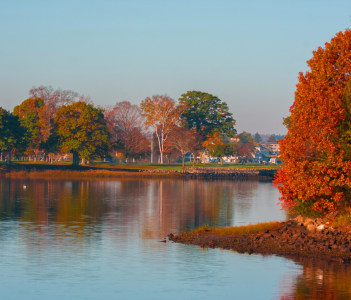 Fall on the Danvers River taken from Beverly, MA, USA