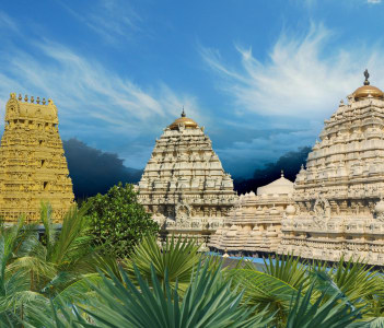 Hindu Narasimha temple located in the Visakhapatnam City suburb of Simhachalam in Andhra Pradesh South India