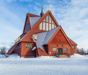 The church of Kiruna in Sweden