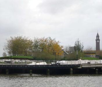 Pier C, torn up