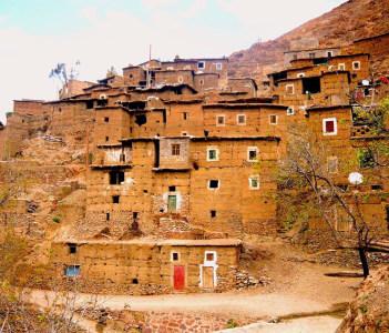 Traditional Berber village, Morocco Atlas Mountains