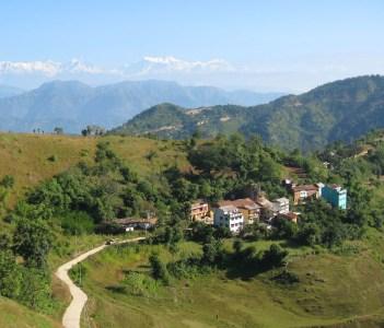Path through village outside Tansen, Nepal. Himalayas