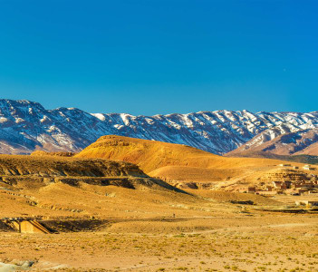 Panorama of the Atlas Mountains at Midelt - Morocco