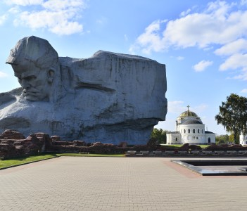 Monument in honor of defenders of the Brest fortress in Belarus