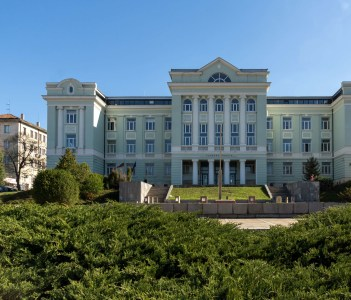 Building of Courthouse in city of Shumen, Bulgaria