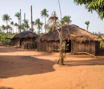 Traditional African village Guinea Bissau