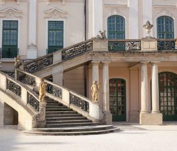 Detail of the Esterhazy Palace near to Sopron in Fertod Hungary