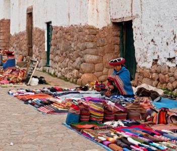 Peruvian women Chinchero Peru