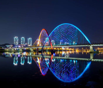 Expo Bridge in Daejeon city, South Korea